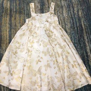 Gold Butterflies + Hummingbirds H&M Dress - 6-7Y